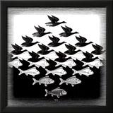 Ciel et eau Affiches par M. C. Escher