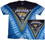 NFL: Jacksonville Jaguars- V-Dye (Front/Back) T-skjorter