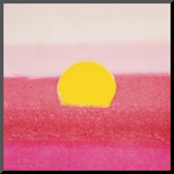 Sunset, c.1972 40/40 (pink) Aufgezogener Druck von Andy Warhol