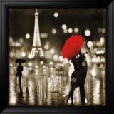 A Paris Kiss Plakater af Kate Carrigan