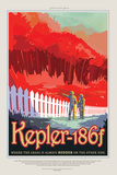 NASA/JPL: Visions Of The Future - Kepler-186F Poster