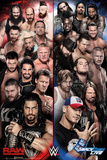 WWE- Raw vs Smackdown Print