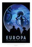 NASA/JPL: Visions Of The Future - Europa Print