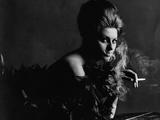 Vogue - November 1962 - Smoky Sophia Metal Print by Bert Stern