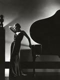 Vogue - November 1935 - Piano Silhouette Metal Print by Edward Steichen