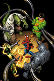 The Clone Conspiracy 1 Variant Cover Art Featuring Lizard, Electro, Spider-Man, Rhino & More Print by Mark Bagley