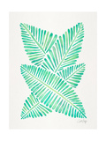 Seafoam Banana Leaves Giclee Print by Cat Coquillette