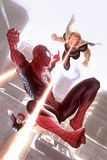 Squadron Supreme 11 Cover Art Featuring Hyperion, Spider-Man, Doctor Spectrum Posters by Alex Garner