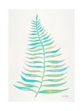 Turquoise Palm Leaf Reproduction procédé giclée par Cat Coquillette