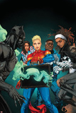 Ultimates 10 Cover Art Featuring Black Panther, Miss America, Captain Marvel, Blue Marvel & More Print by Kenneth Rocafort