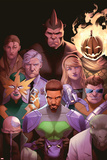 Prowler 1 Variant Cover Art Featuring Rhino, Jack o Lantern, Captain Stacy, Massacre & More Posters by Jamal Campbell
