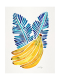 Blue Bananas Giclee Print by Cat Coquillette