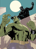 The Totally Awesome Hulk 10 Panel Featuring Black Panther, Totally Awesome Hulk Prints by Terry Dodson