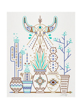 Brown Santa Fe Garden Giclee Print by Cat Coquillette