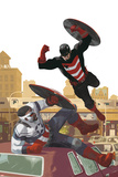 Captain America: Sam Wilson 13 Cover Art Featuring U.S. Agent, Falcon Cap Prints by Daniel Acuna