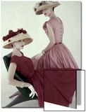 Vogue - April 1956 Art Print by Karen Radkai