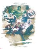 Avengers Panel Featuring Hulk, Bruce Banner Poster