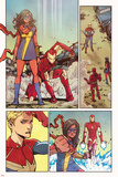Ms. Marvel 11 Panel Featuring Ms. Marvel (Kamala Khan), Iron Man, Captain Marvel Posters by Takeshi Miyazawa