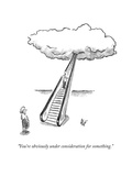 """""""You're obviously under consideration for something."""" - New Yorker Cartoon Premium Giclee Print by Frank Cotham"""