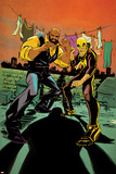 Marvel Knights Cover Art Featuring Iron Fist, Luke Cage Print