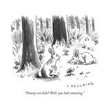 """Ninety-six kids? Well, you look amazing."" - New Yorker Cartoon Premium Giclee Print by Trevor Spaulding"