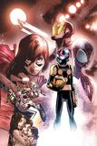 Nova 11 Panel Featuring Ms. Marvel, Iron Man, Nova, Ultimate Spider-Man Morales & More Trykk på strukket lerret av Humberto Ramos