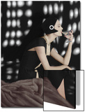 Vogue - November 1960 - Art Deco Martini Art Print by Karen Radkai