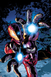 Invincible Iron Man 13 Cover Art Featuring Iron Man Prints by Mike Deodato