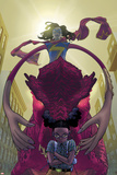 Moon Girl and Devil Dinosaur 10 Cover Art Featuring Ms. Marvel, Devil Dinosaur, Moon Girl & More Posters by Amy Reeder