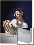 Vogue - July 1939 - White Sunglasses & Red Lipstick Art Print by Horst P. Horst