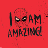 Marvels Spider-Man - I Am Amazing Stretched Canvas Print