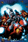 Uncanny Avengers 12 Cover Art Featuring Ultron, Hulkbuster Prints by Ryan Stegman