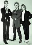The Police- Sting, Andy Summers And Stewart Copeland, Studio 1980 Posters