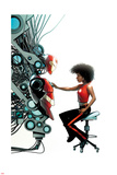 Invincible Iron Man 1 Variant Cover Art Featuring Ironheart, Riri Williams Plakater af Mike McKone