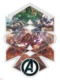 Avengers Panel Featuring Hulk, Bruce Banner Prints