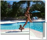 Vogue - April 1999 - Poolside Strut Wall Art by Arthur Elgort