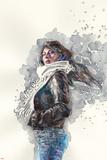 Jessica Jones 1 Cover Art Featuring Jessica Jones Bilder av David Mack