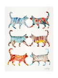Original Cat Collection Giclee Print by Cat Coquillette