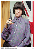 Jeff Beck- At His Home, Sutton, England May 1967 Poster
