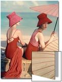 Vogue - January 1959 - Under Parasols Art Print by Louise Dahl-Wolfe