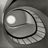Vogue - April 1952 - Spiral Staircase Metal Print by Fred Lyon