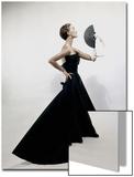 Vogue - November 1949 - Model wearing Christian Dior 1949 Art Print by Erwin Blumenfeld
