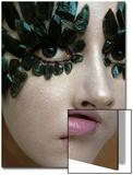 Vogue - January 1968 - Emerald-Encrusted Eyes Wall Art by Gianni Penati