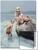Vogue - January 1957 - Picnic Rock Art Print by Richard Rutledge