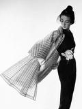 Vogue - April 1950 - Coat Flip Metal Print by Cecil Beaton