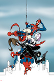 Web Warriors 11 Panel Featuring Spider-Man (India), Spider-Girl, Spider-Gwen, Spider-Ham & More Prints by Gustavo Duarte