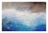 Ombre Blue Art by Karen Hale