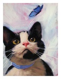 Cat and Butterfly Posters by Diane Hoeptner