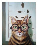 Feline Cat Exam Art by Lucia Heffernan