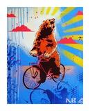 Bear Back Rider Posters af  AbcArtAttack